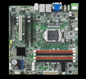 10 COM 10 USB 2.0 Advantech 2nd /& 3rd Gen Intel Core i7//i5//i3 LGA1155 MicroATX with H61 Dual LAN CRT//DVI//LVDS